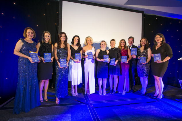 The winners on-stage at the Women in Finance Awards Ireland 2019