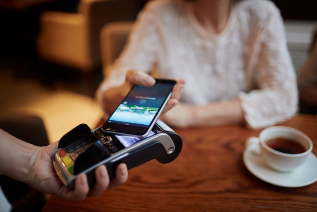 Boku and Bango technology: smartphone being used to make payment