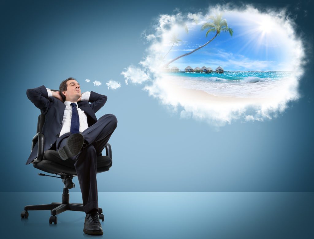 A man dreams of holiday leave
