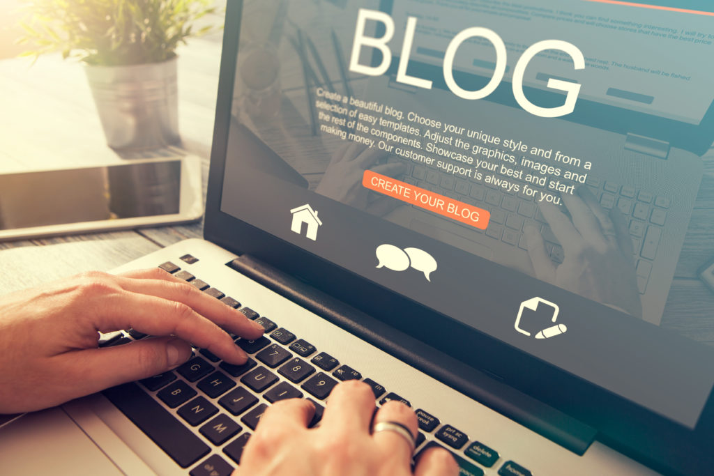 Blogging makes your small business website personable and fresh