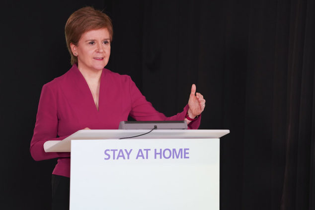 Sturgeon's announcement indicates that Scotland's businesses restrictions could ease in April